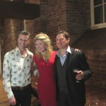 Simon with Scarlett Strallen and David Charles Abell